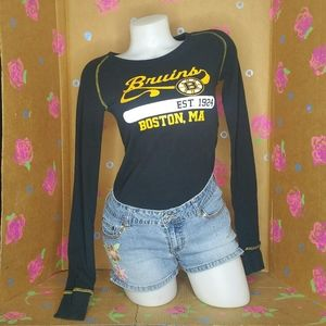 Boston Bruins Black Thermal Long Sleeve Shirt M